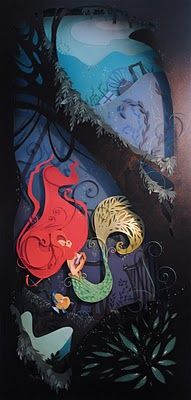 The Little Mermaid Papercut, by Brittany Lee