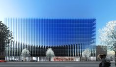 REX Designs a Concave and Crystalline Office Building for Washington DC, Courtesy of REX