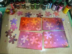 Shoshiplatypus: Dylusions Ink Sprays–My First Attempts