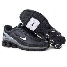 Nike Shox R4 2 Mens Leather Upper all black 2