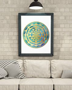 Sacred Geometry Mandala Meditation Room Wall Art | Etsy