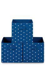 Set Of 3 Fabric Storage Boxes