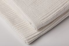 Our new Baby Horizon throw in a brilliant white.
