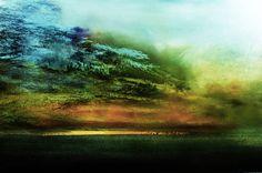 "Saatchi Online Artist: Maurice Sapiro, UK Oil, 2010, Painting ""Blue Cloud"""
