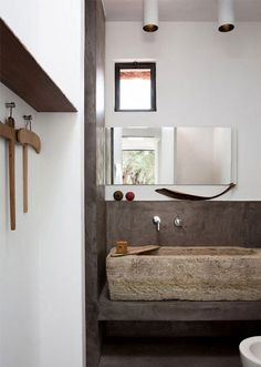 Bathroom Composition White Brown Stone Houses Modern Rustic Cafe