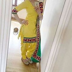 wao get this beautifull yellow suit customized  visit us at https://www.facebook.com/punjabisboutique   whatsapp +917696747289 @nivetas Design Studio  Punjabi salwar suit, Patiala Salwar Suit    #PunjabiSalwarSuit, #PatialaSalwarSuit
