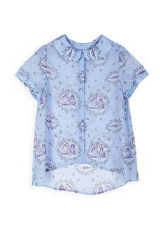 Book of Deer Bird Print blouse