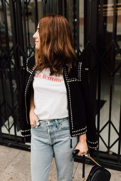 the coolest suede studded jacket... a little bit rock n' roll!