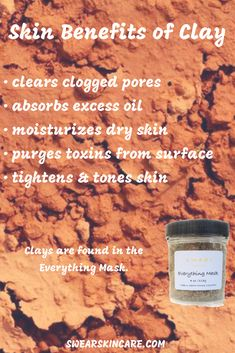 #clay #rhassoulclay #bentoniteclay #claymask #mask #facial #facemask #skin #skincareproducts #skincare #plantbased #vegan #natural #naturalremedies #ecotips #beautytips #beauty #blackheads #cleanse Bentonite Clay, Clogged Pores, Best Face Mask, Moisturizer For Dry Skin, Clay Masks, Skin Brightening, Skin Tips, Natural Remedies, Cleanse