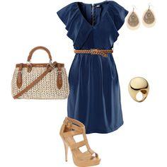 love this navy blue dress