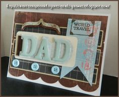 Scalloped Cricut Father's Day Card, World Traveler