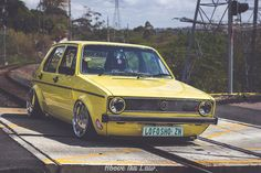 """Well, as we have """"Love for the & Golf"""" threads and I can't find one for the Golf, I thought I'd start one. :D Please post all that is awesome about the Golf here. Golf 1, Gti Mk7, Volkswagen Golf Mk1, Fiat Uno, Vw Classic, Yellow Car, Animal Wallpaper, Car Wheels, Motor Car"""