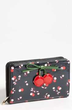 Free shipping and returns on RED Valentino 'Cherry - Small' Wallet at Nordstrom.com. A lacquered cherry print covers a modified French wallet cut from rich leather.