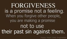 Forgiveness is something that can be so hard to do but is so very important. This is the best explanation of the word I have ever seen.