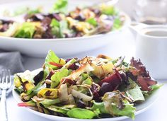 Roasted beet and leek salad
