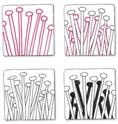 Zentangle Patterns Step by Step | BLOG.SUZANNEMCNEILL.COM: Zentangle® Peek-a-Boo Card