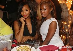 LeToya Luckett and Shateria attend Cassie's Private Dinner