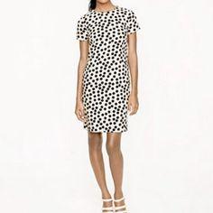 b08a628e56c6e Short Sleeved J. Crew Polka Dot Dress White Polka Dot Dress, Polka Dots,