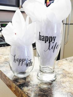 Hey, I found this really awesome Etsy listing at https://www.etsy.com/listing/250676724/happy-wife-happy-life-glass-set-his-and
