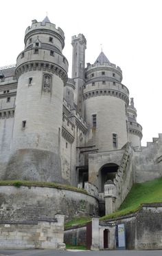 The Medieval Chateau de Pierrefonds ~ originally built (1393-1407) for military defense purposes, it was restored in the 19th century and has been a backdrop for many films.