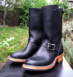 [IMG] Tall Leather Boots, Tall Boots, Leather Shoes, Men's Leather, Men's Shoes, Shoe Boots, Men Boots, Bottes Red Wing, Western Boots
