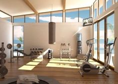 Gym in the house overlooking pool!