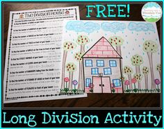 Are you working on learning long division in your homeschool? We've found lots of FREE Printables and Ideas for Teaching Long Division. Long Division Activities, Teaching Long Division, Math Division, Teaching Math, Teaching Strategies, Teaching Ideas, Kindergarten Math, Long Division Game, Division Algorithm