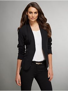 The Crosby Street Double Stretch One-Button Jacket from New York & Company
