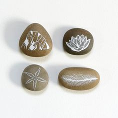 RESERVED for treeboat - Meditation Collection 1 - Painted Stones - Nature Art by Natasha Newton