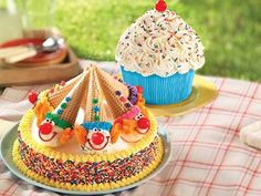 Clown Cone Party Round Cake or the Too Cute Cupcake Cake from Baskin- Robbins