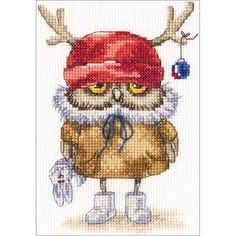 """Ready For The New Year Counted Cross Stitch Kit-6""""X6.25"""" 14 Count                                                                                                                                                                                 More"""
