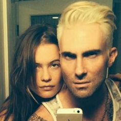 Adam Levine goes Platinum Blonde.  Is he still the sexiest man alive?  We think so :)