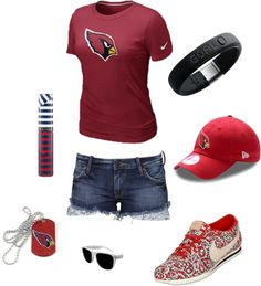 """""""Arizona Cardinals Casual Tee and Denim Outfit"""" by azcardinals on Polyvore"""
