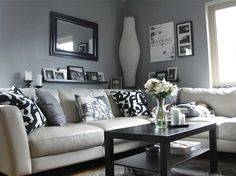 Ikea living room - love this decoration but i dont like that lamp on the corner Ikea Living Room, Home And Living, Family Living Rooms, Living Room Designs, Interior, Living Room Grey, Home Decor, Apartment Decor, White Living Room Decor