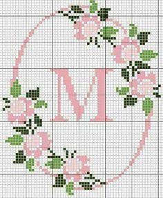 Bildresultat för korsstygnsmönster bokstäver