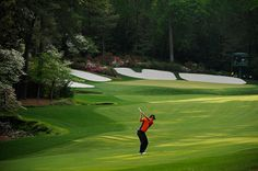 Augusta's 13th hole. Always pivotal at the Masters! Somehow the slope just doesn't show on TV.
