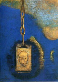 The Beacon, 1883, pastel  on paper. The Art Institute of Chicago, Chicago, USA.  Symbolism, Odilon Redon (1840-1916).