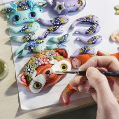 Ooak red fox doll. My working process. #ooak #oooakart #painting #polymerclay #polymerclayart #artartist #art #hendmade #etsysellersofinstagram #etsy #etsystore