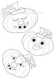 Gabarit - Guirlande de citrouilles d'Halloween