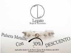 Pulsera Metallic con el 30% de descuento solo por el mes de Febrero !!! #Metallic #Pulsera #Descuento #Sale  Info:3123721833 Envió a todo el país.