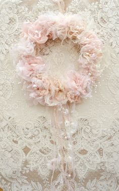 Handmade Ribbon Work Wreath by Jennelise Rose