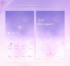 #samsungtheme #galaxytheme #galaxystore #s20 #겔럭시 #안드로이드 #임샤인 #예쁜하늘 #배경화면 Galaxy Theme, Phone Messages, Purple Sky, Camera Phone, App, Simple, Beautiful, Apps, Camera