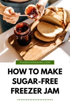 If you've never made a no sugar freezer jam, but don't know what to do with all your fresh fruit, you have to check this out. Whole Food Recipes, Keto Recipes, Freezer Jam, Preserving Food, Fresh Fruit, Grain Free, Preserves, Sugar Free, Gardening