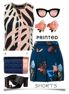 """""""Prints Charming: Tropical"""" by easy-dressing ❤ liked on Polyvore featuring Proenza Schouler, Quay, Chanel, printedshorts, polyvoreeditorial and polyvorecontest"""