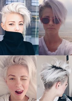I love that short hair Short Hair With Layers, Layered Hair, Short Hair Cuts, Hair Color And Cut, Cut My Hair, New Hair, Brittenelle Fredericks, Edgy Pixie Cuts, Androgynous Hair