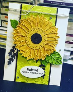 Rubber Stamping, Stamping Up, Sunflower Cards, Pretty Cards, Diy Cards, Homemade Cards, Stampin Up Cards, Birthday Cards, Card Ideas