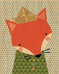 Tableau sur bois *le renard