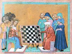 Miniature de l'ouvrage de Jacques de Cessoles - Les joueurs d'échecs