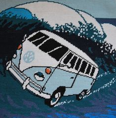 Digital PDF file for Surf Bus Tapestry Chart by SnuginaDub on Etsy