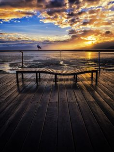 ~~Chilling Out ~ perfect bench to dream on during a scenic sunrise, Great Barrier Reef, Queensland, Australia by Paul Emmings~~